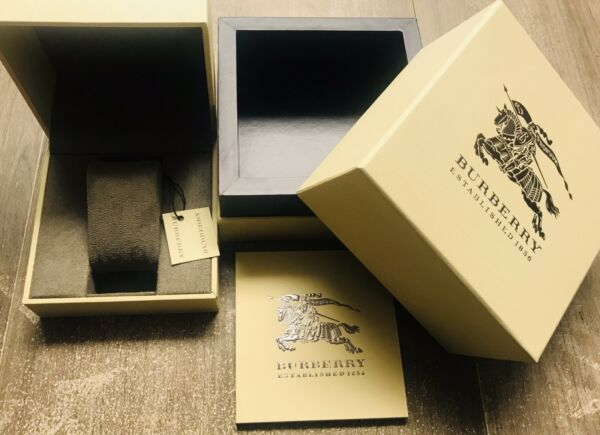 BURBERRY Original Package Display Collector Box amp; Manual NEW Authentic $27.99