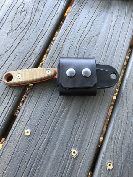 ESEE IZULA 2 leather Horizontal Carry Scout Strap BLACK $21.95