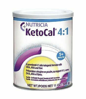 KetoCal 4:1 Vanilla Flavor 300 Gram Can Powder 101777 - Case of 6