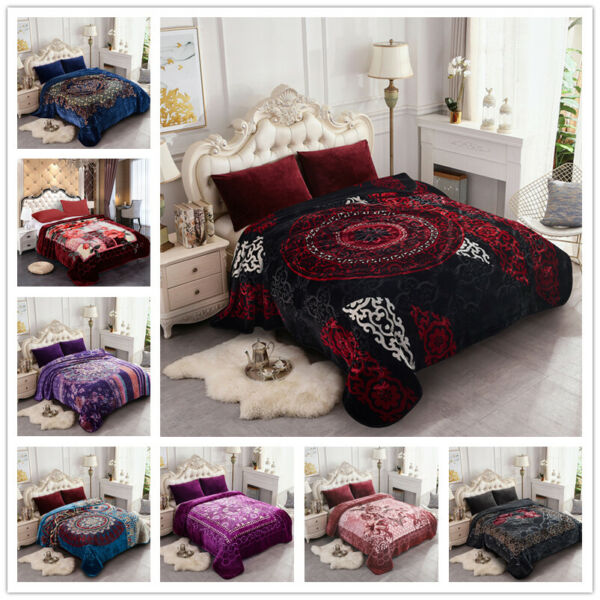 Heavy Thick Ultra Warm Soft Plush Bed Blanket For WinterKingQueen Size 8-9lbs