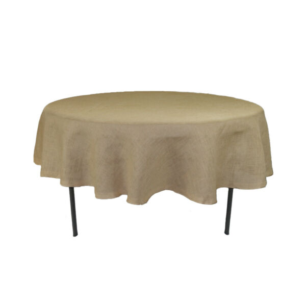 90 inch Round Burlap Tablecloth
