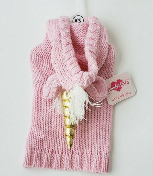 Smoochie Pooch UNICORN PINK SWEATER SIZE XS $12.99