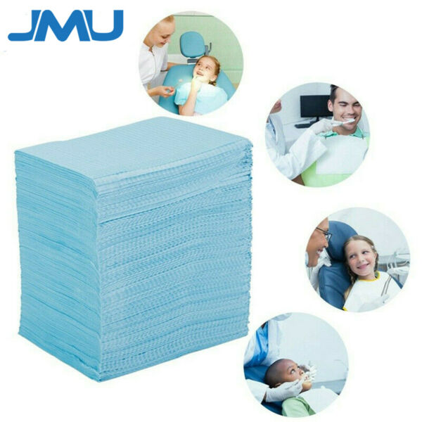 JMU Disposable Waterproof Patient Bibs 2-Ply Towels for TATTOO DENTAL Medical