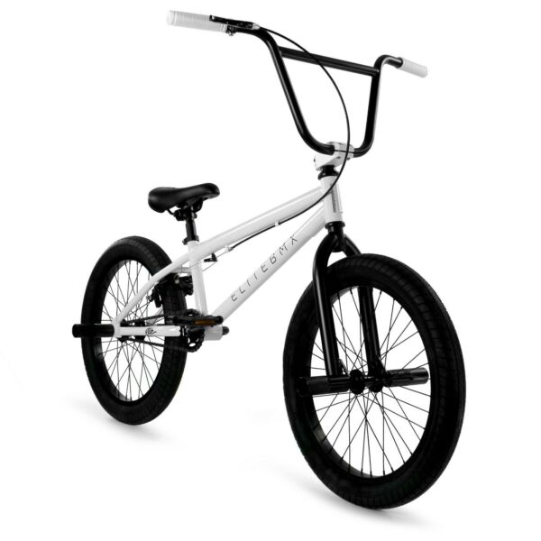 Elite BMX 20quot; Bike Stealth Freestyle White NEW 2020 1 Piece $249.00
