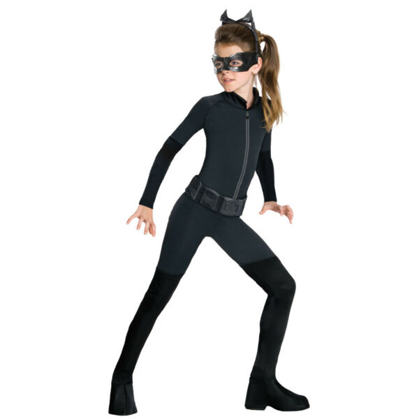 Catwoman Costume Girls Kids Child Size Batman Villain