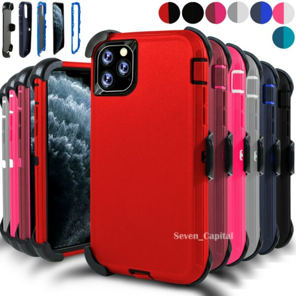 For iPhone 11 11 Pro Max Case Cover w Screen & Belt Clip Fits Otterbox Defender