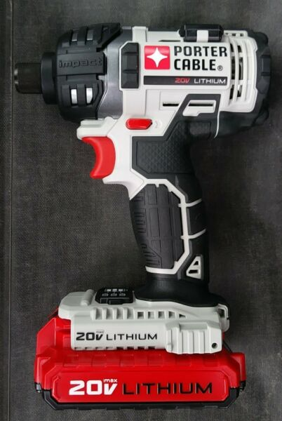Porter-Cable 20v Max Impact Driver PCC640 with Battery PCC680L.