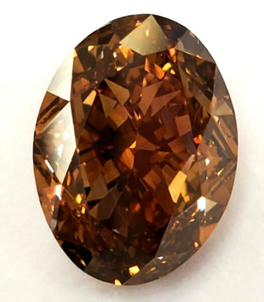 6CT Natural Diamond Fancy Orange Brown Chocolate Color GIA Certified Oval Cut
