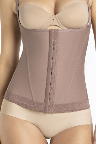 CURVEEZ Waist Cincher Corset Hourglass Shaper Girdle Sculpting Open Bust vest