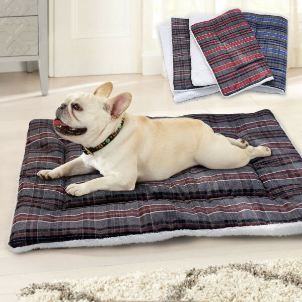 Dog Beds for Small Large Dogs Soft Fleece Bed Mats Washable Pet Kennel Mattress $17.99
