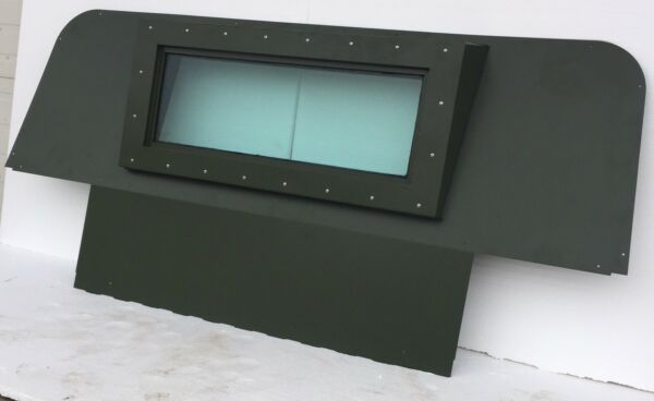 HUMVEE Premium Iron Curtain - Replace Canvas W Steel - Military GREEN M998