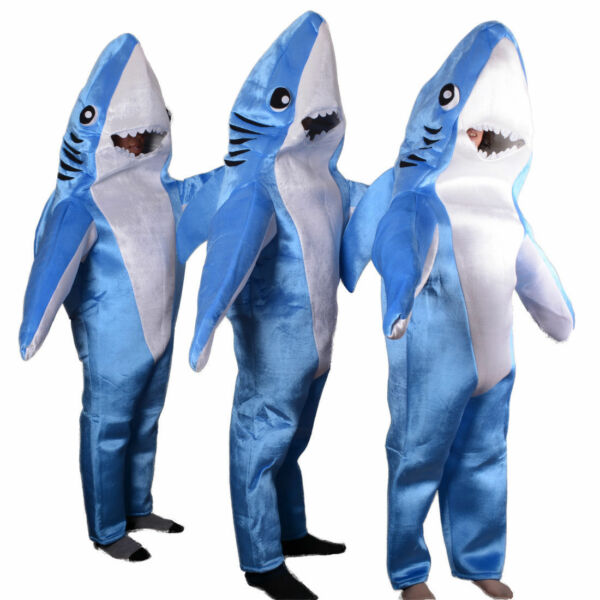 NEW Whale Shark Mascot Costume Cosplay Adult Size Jumpsuit Halloween Party Dress