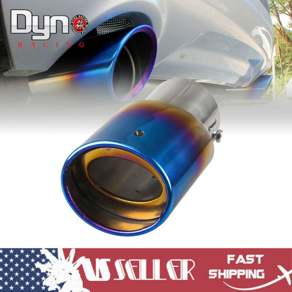 Burnt Blue Car Muffler Tip Exhaust Pipe Tail Universal Adjustable For Pickup