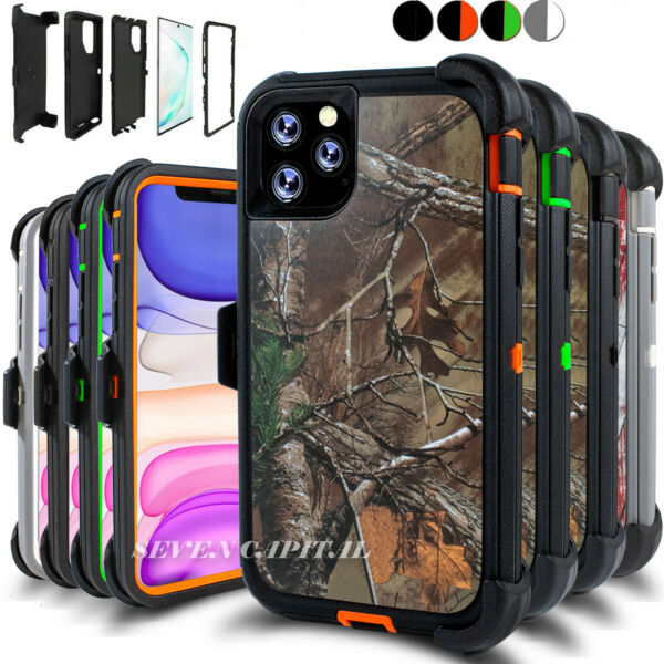 For iPhone 11 11 Pro Max Case Cover w Screen & Belt Clip Fits Otterbox Defender $11.99
