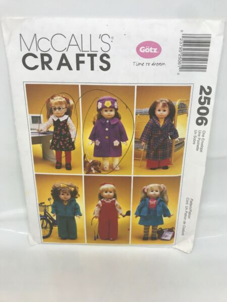 McCalls 2506 18 inch Doll Clothes amp; Dog Sewing Pattern $8.49