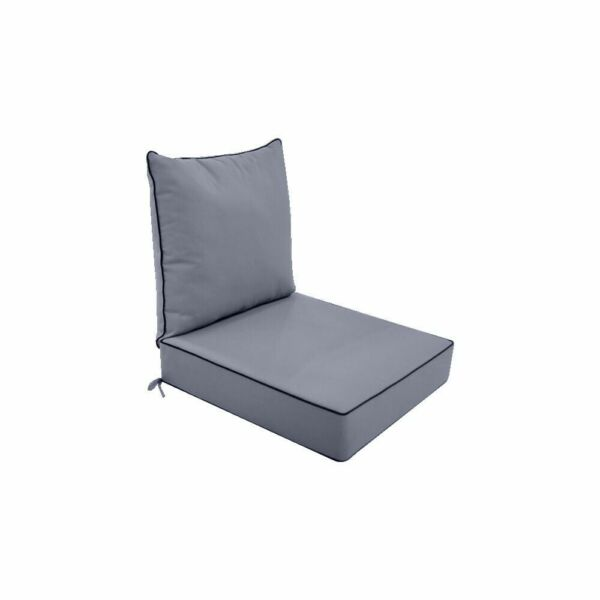 S1 Love Sofa Deep Seat Cushion 24x26x5 Back Rest Pillow Outdoor Water Repellent $79.50