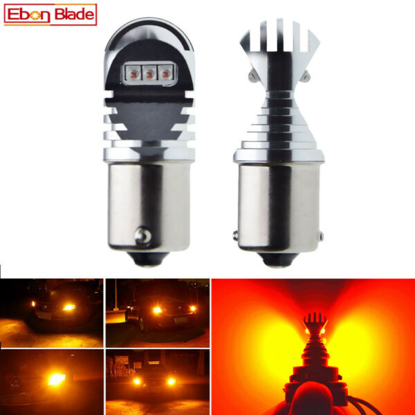 2Pcs 1156 BA15S P21W 7506 Cree 30W LED Bulbs Amber Orange Car Turn Signal Lights