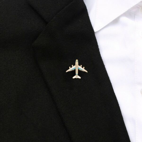 Charms Plane Brooch Airplane Enamel Jewelry Party Badge Banquet Scarf Pins