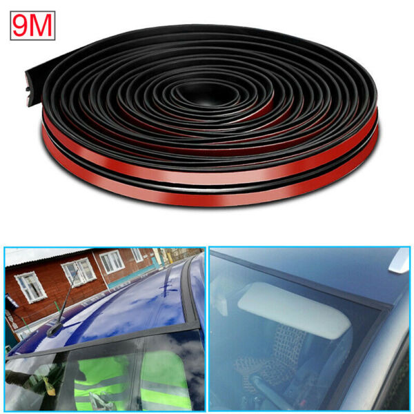 For Car Windshield Window Roof 9M 30ft Black Rubber Seal Edge Trim Weatherstrip $18.75