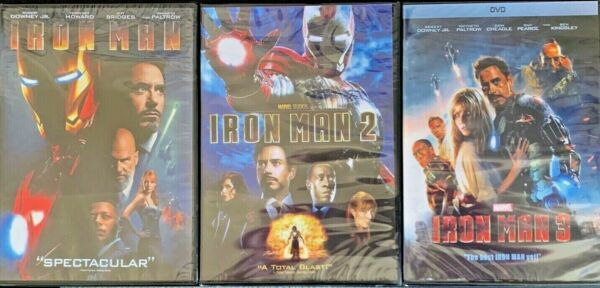 Marvel's: Iron Man Trilogy 1 2 & 3 DVD (Brand New  USPS First Class Shipping)