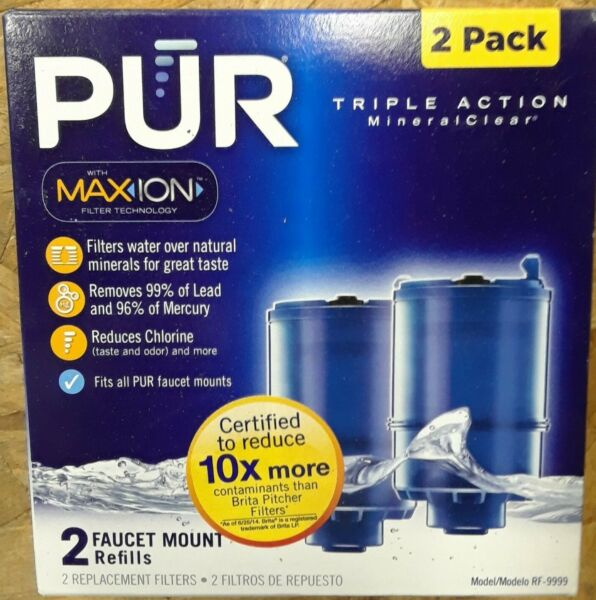 Pur® Faucet Mount Ultimate Triple Action Filters (2 in Box) Model RF-9999 NEW