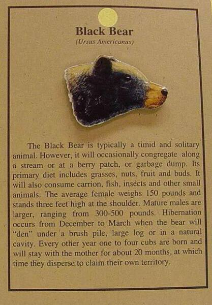 NEW BLACK BEAR HAT PIN LAPEL ANIMAL PINS