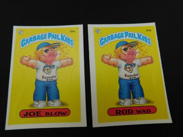 1986 Topps 3rd Series Garbage Pail Kids #84 AB JOE BLOW & ROD WAD more listed