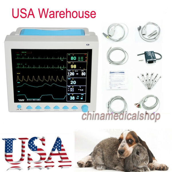 Vet Portable Patient Monitor 7 parameters Large screen For animalcatdog use