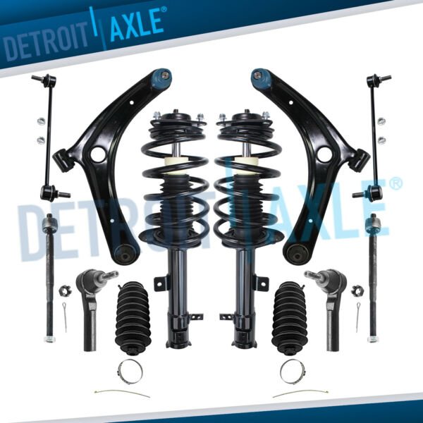 12pc Front Struts Lower Control Arm Kit for 2007 2008-2017 Jeep Compass Patriot