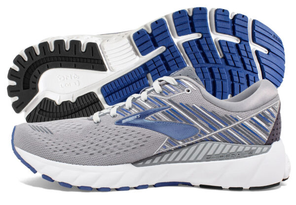 Brooks Adrenaline GTS 19 Mens Shoe GreyBlueEbony multiple sizes New In Box