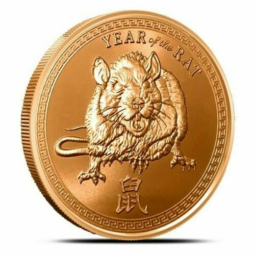 1 oz Copper Round - Year of the Rat