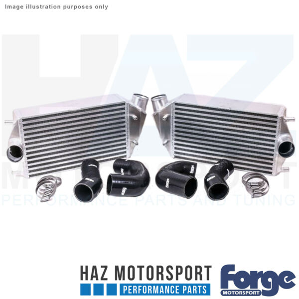 Forge Motorsport Uprated Intercooler + Black Hoses For Porsche 997.2911 Turbo