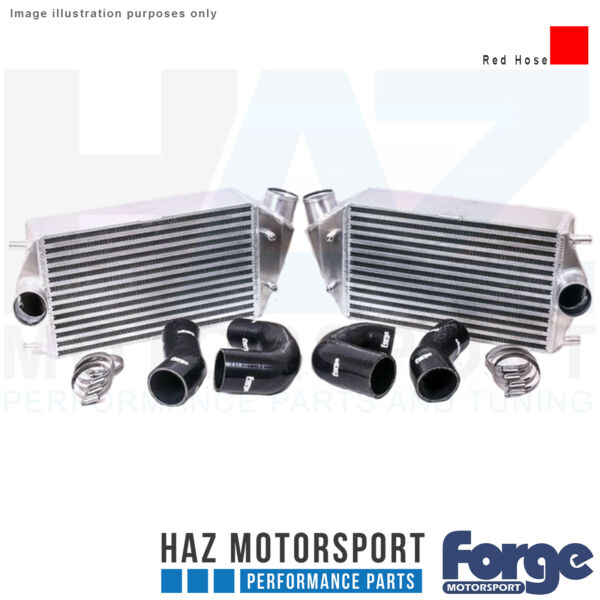 Forge Motorsport Uprated Intercooler + Red Hoses For Porsche 997.2911 Turbo