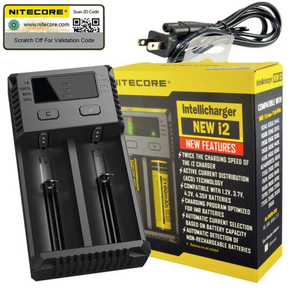 NITECORE i2 Intellicharger Battery Charger 26650 18650 14500 16340 26650 AAA AA