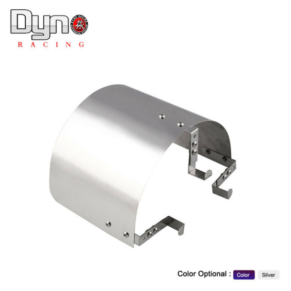 Air Intake Filter Heat Shield Cover 2.5quot; 3.5quot; Stainless Steel Silver Universal $15.99