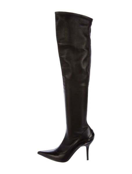 Tom Ford for Gucci FW 2003 Over-the-Knee Stretch Leather Studded Boots 7.5