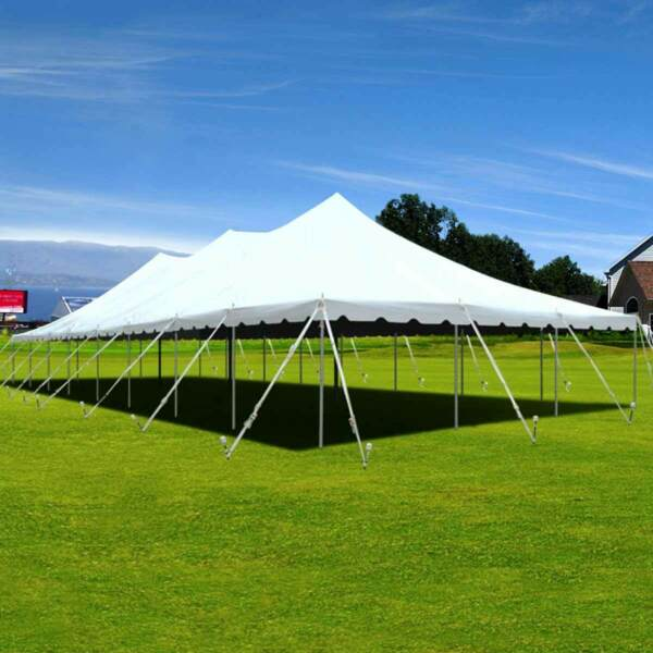 40x80' Premium Pole Tent Heavy Duty Vinyl Sectional Wedding Party Event Canopy