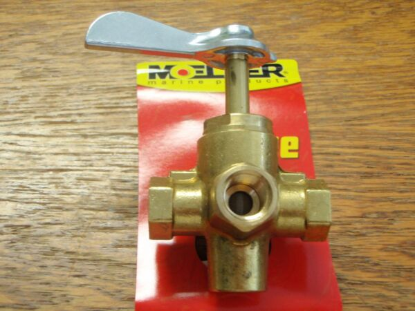 "FUEL VALVE SHUT OFF FUEL TANK 1//4/"" THREAD 18-1654 4 WAY VALVE BOATINGMALL"