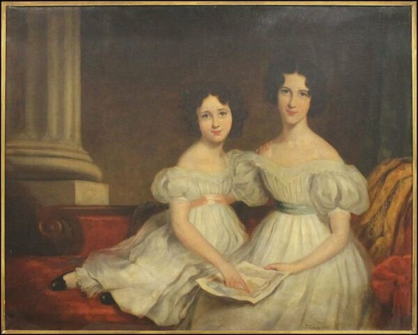 VERY BEAUTIFUL VERY LARGE 19th C OIL PAINTING by THOMAS GANDY dated 1882