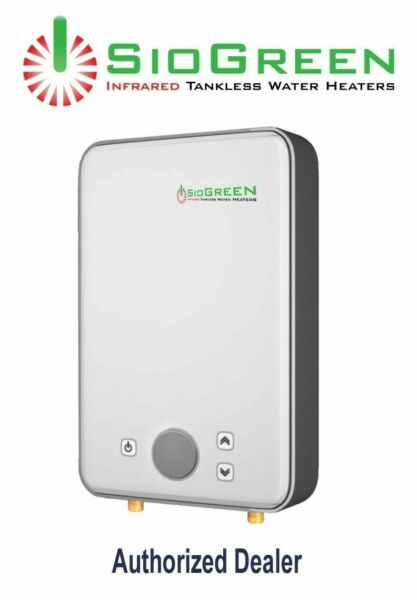 Electric Water Heater Tankless SioGreen IR 288POU 220 v 2.1 GPM Best US Seller $369.99