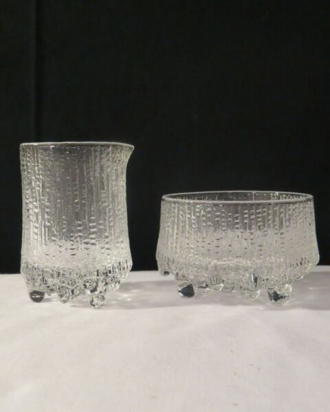 Iittala Ultima Thule 3quot; Open Sugar Bowl and Creamer $45.00
