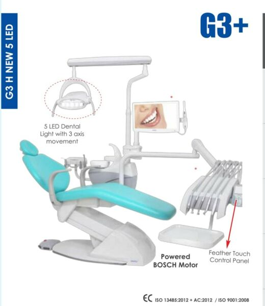 DENTAL CHAIR 5 LED LIGHT SUITABLE FOR HANDICAPPED & PAEDIATRIC PATIENTS