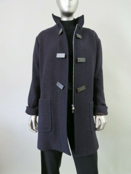 Loro Piana made in Italy Esterno Cloth cashmere wool blend zipper front coat 44