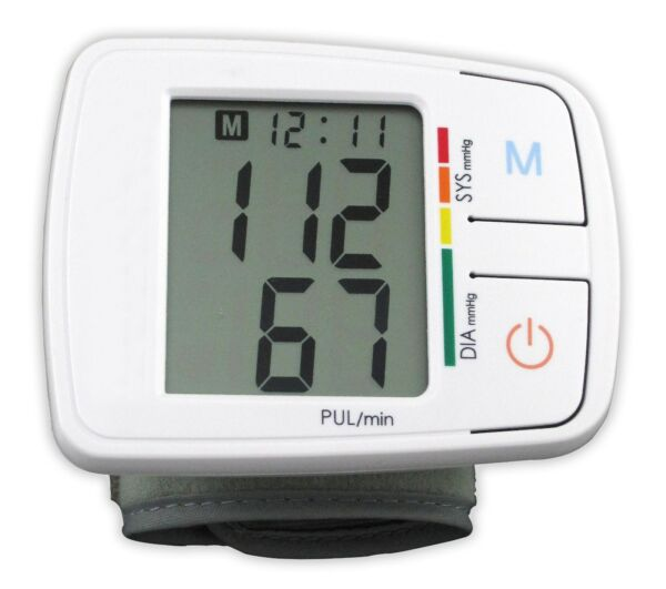 Andon Automatic Wrist Blood Pressure Monitor Heart Rate Tester Meter Machine