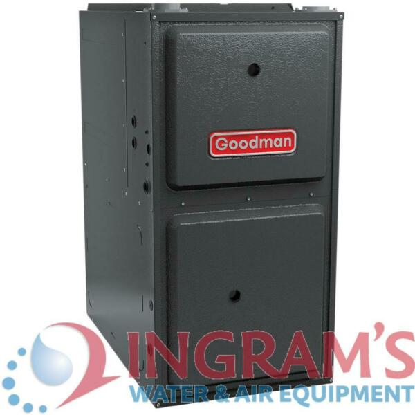 80k BTU 96% AFUE Multi Speed Goodman Gas Furnace Upflow Horizontal 17.5quot; Cab $1234.00