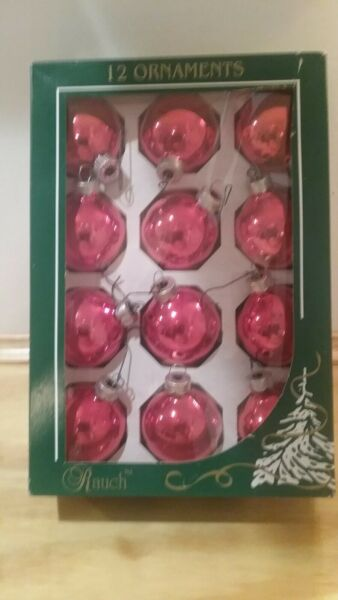 Vintage Rauch Glass Christmas Ornaments PLUS MORE!!!