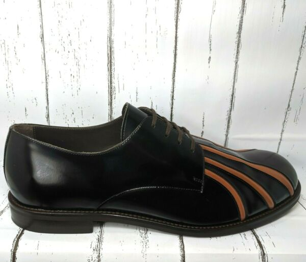 MARNI Lace Up In Black Red Leather Men US 11  45 Made In Italy Minimal Wear