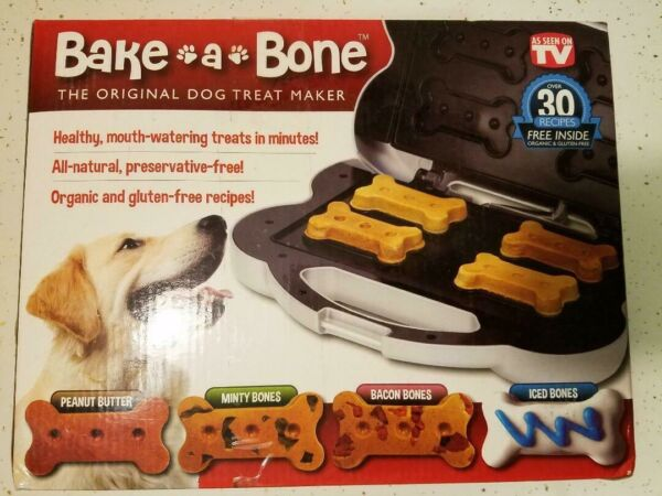 NIB Bake-A-Bone Original Dog Treat Maker seen on TV Dog Treats Snacks NEVER USED