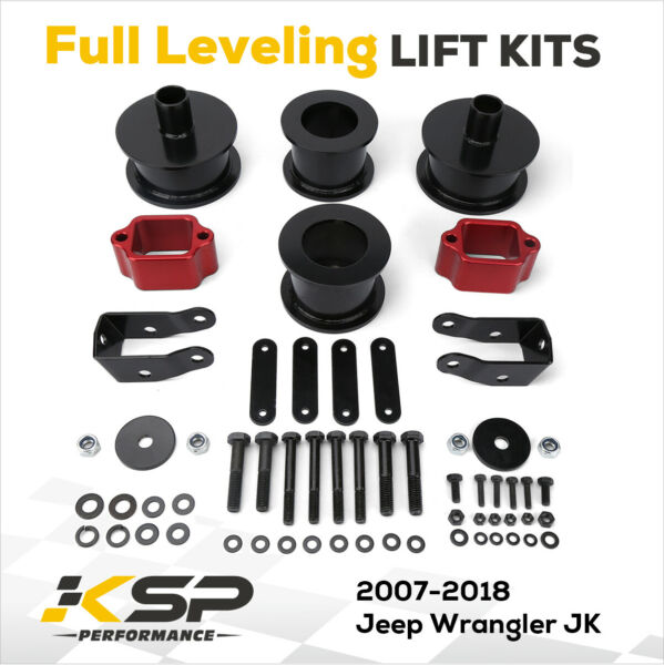 3quot; Front 3quot; Rear Full Lift Kit with Shock Extenders 2007 2018 Jeep Wrangler JK $105.44