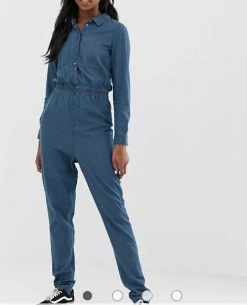 Noisy May Tall denim boiler suit Size M RRP£44 {Z52} GBP 35.00